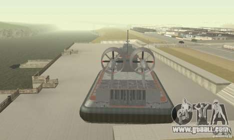 Hovercraft for GTA San Andreas back view