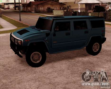 Hummer H2 SUV for GTA San Andreas left view