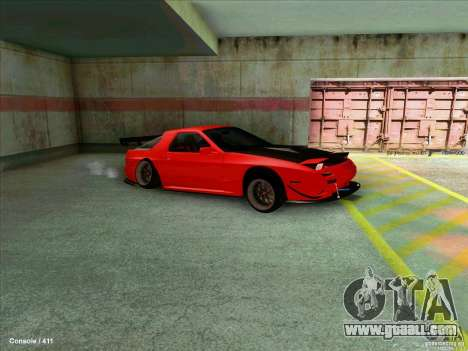 Mazda RX7 for GTA San Andreas back left view