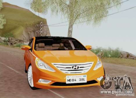 Hyundai Sonata 2012 for GTA San Andreas interior
