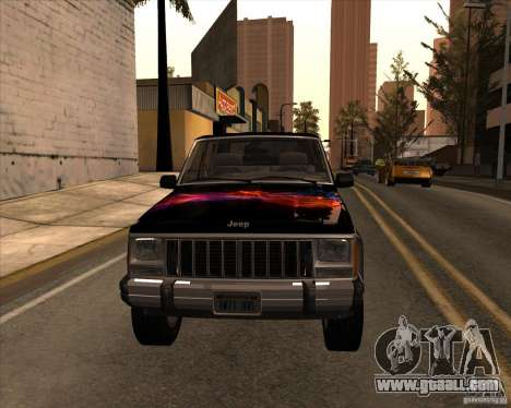 Jeep Cherokee for GTA San Andreas inner view