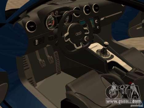Audi TT RS for GTA San Andreas back view