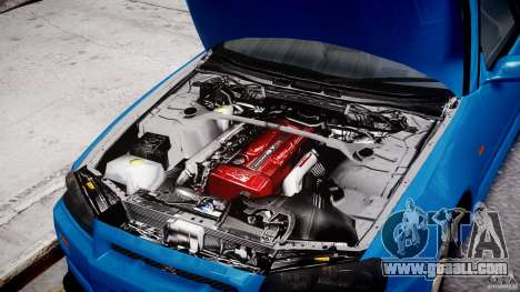 Nissan Skyline R-34 V-spec for GTA 4 side view