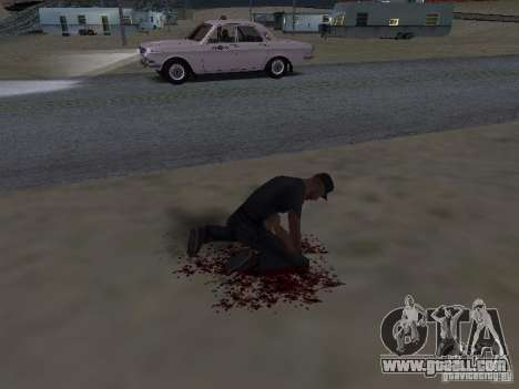 Hurt by a shot for GTA San Andreas second screenshot