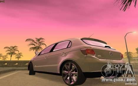 Volkswagen Gol G6 for GTA San Andreas inner view