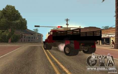 KrAZ 5131 for GTA San Andreas back left view