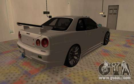 Nissan Skyline R34 for GTA San Andreas right view