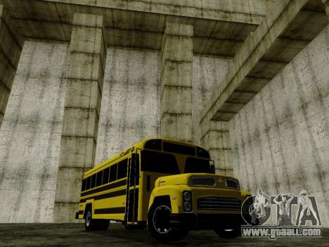 International Harvester B-Series 1959 School Bus for GTA San Andreas back left view