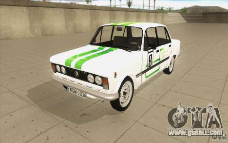 Fiat 125p for GTA San Andreas bottom view