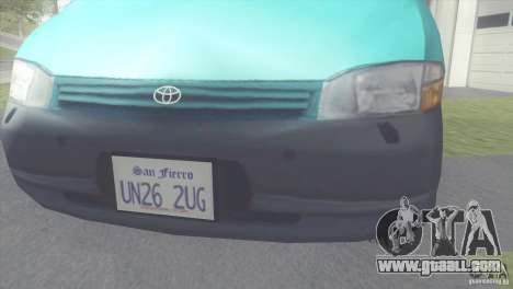 Toyota Granvia for GTA San Andreas right view