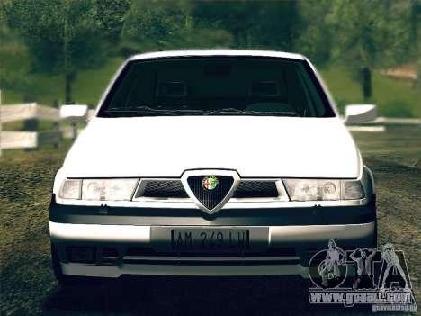 Alfa Romeo 155 1992 for GTA San Andreas back view