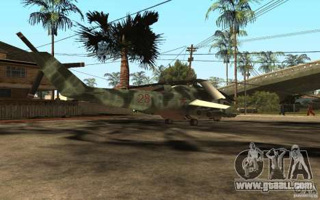 MI-24A for GTA San Andreas back left view