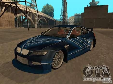 BMW M3 E92 Tunable for GTA San Andreas interior