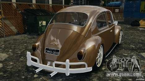 Volkswagen Fusca Gran Luxo v2.0 for GTA 4 back left view