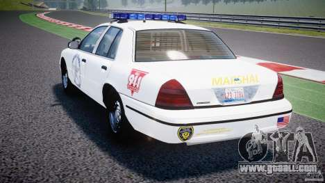 Ford Crown Victoria US Marshal for GTA 4 back left view