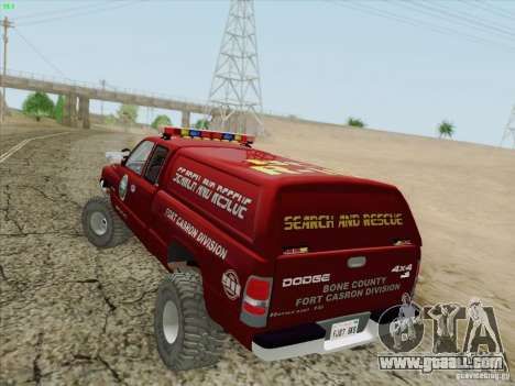 Dodge Ram 3500 Search & Rescue for GTA San Andreas wheels