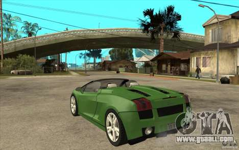 Lamborghini Gallardo Spyder for GTA San Andreas back left view