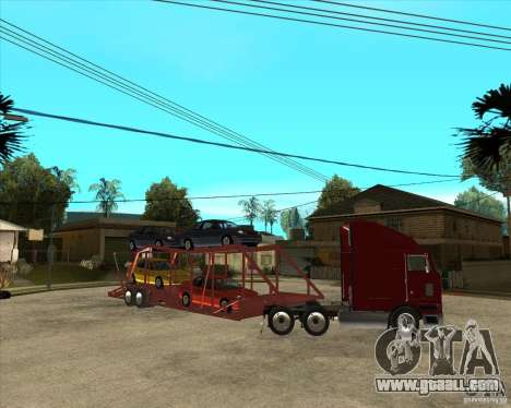 Semi-trailer Truck for GTA San Andreas upper view