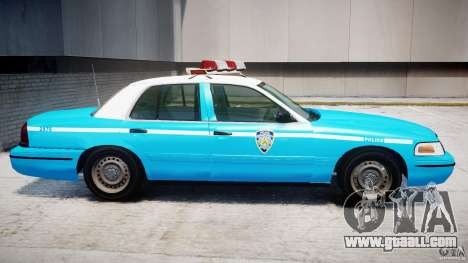 Ford Crown Victoria Classic Blue NYPD Scheme for GTA 4 back left view