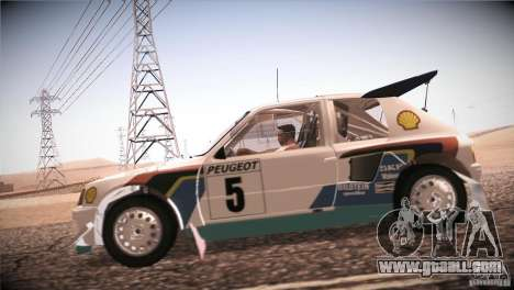 Peugeot 205 T16 for GTA San Andreas back left view
