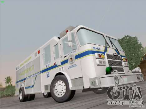Pierce Fire Rescues. Bone County Hazmat for GTA San Andreas right view