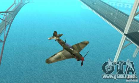 Yak-9 during WORLD WAR II for GTA San Andreas inner view