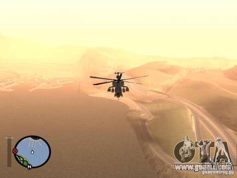 MI 28 Havok for GTA San Andreas right view