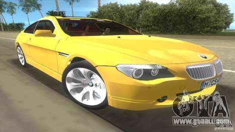 BMW 645Ci for GTA Vice City back view