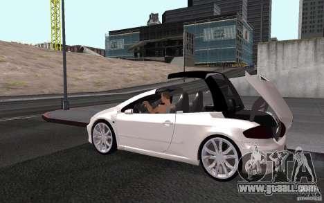 Peugeot 307CC BMS for GTA San Andreas interior