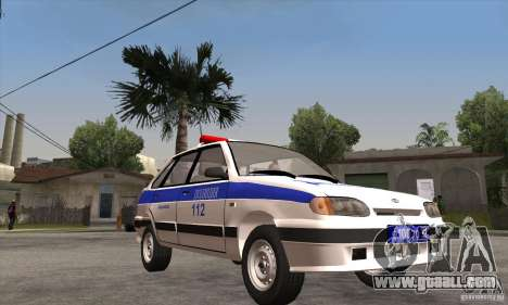 ВАЗ 2114 Police for GTA San Andreas back view