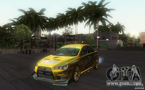 Mitsubishi Lancer Evolution X Gymkhana for GTA San Andreas