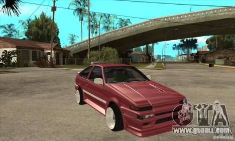 Toyota Corolla AE86 tuned for GTA San Andreas back view