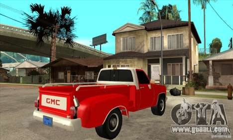 GMC 454 PICKUP for GTA San Andreas right view