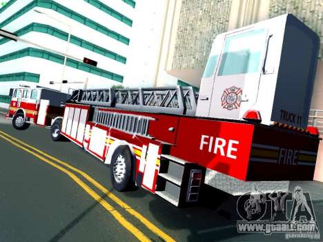 Seagrave Tiller Truck for GTA San Andreas right view