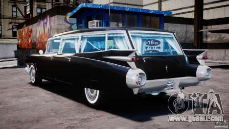 Cadillac Miller-Meteor Hearse 1959 for GTA 4 back left view