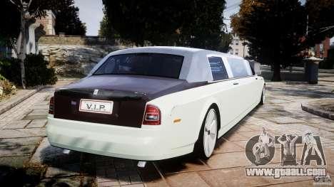 Rolls Royce Phantom Sapphire Limousine Disco for GTA 4 back left view
