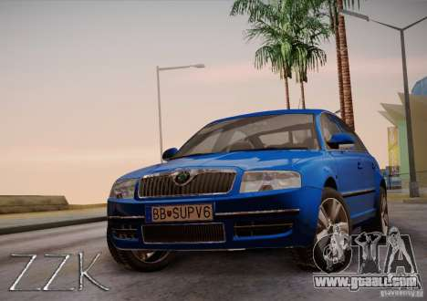 Skoda Superb 2006 for GTA San Andreas back left view