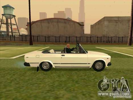 Vaz 2107 convertible for GTA San Andreas right view
