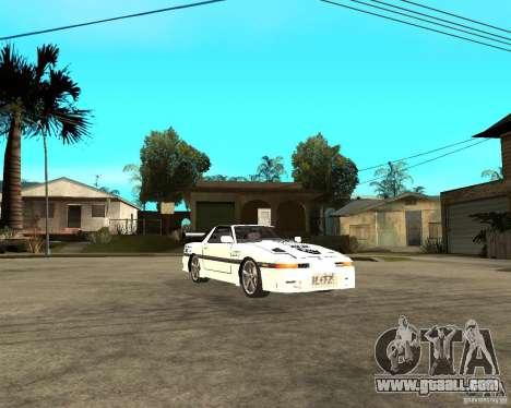 Toyota Supra MK3 Tuning for GTA San Andreas back view