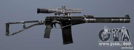 As Val Assault Rifle for GTA San Andreas sixth screenshot