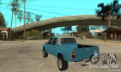 Toyota Hilux CD for GTA San Andreas back left view