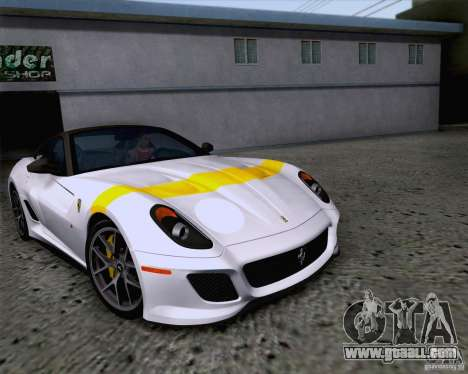 Ferrari 599 GTO 2011 v2.0 for GTA San Andreas upper view
