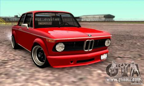 BMW 2002 Turbo for GTA San Andreas upper view