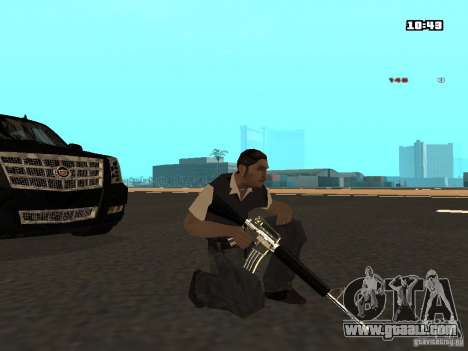 White Red Gun for GTA San Andreas fifth screenshot