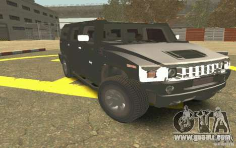 Hummer H2 Stock for GTA San Andreas inner view