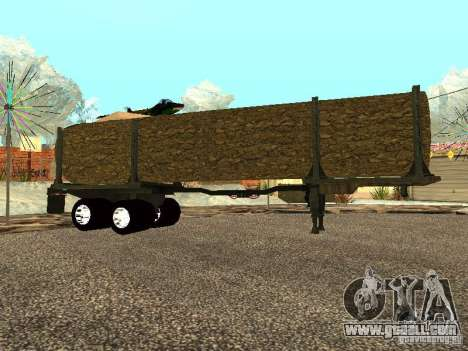 Felled tree for GTA San Andreas left view