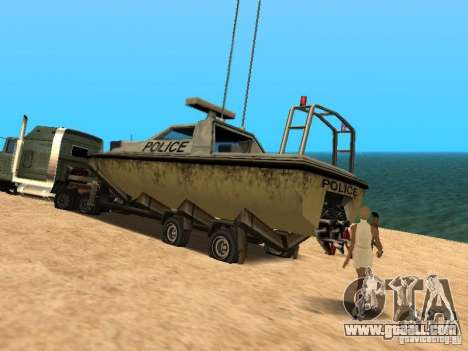 Trailer boats for GTA San Andreas right view
