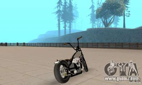 HD Shovelhead Chopper v2.1-chrome for GTA San Andreas left view