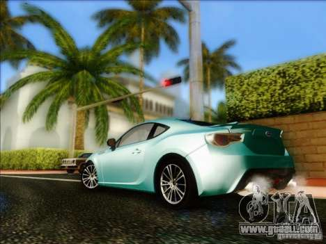 Subaru BRZ S 2012 for GTA San Andreas back left view