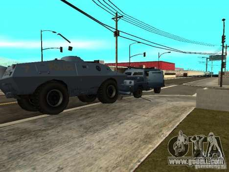 S.W.A.T. and FBI Truck ride through the streets  for GTA San Andreas second screenshot